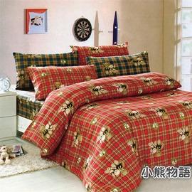 ~小熊物語~  單人薄床包 兩件組 3.5X6.2呎~優眠工房~