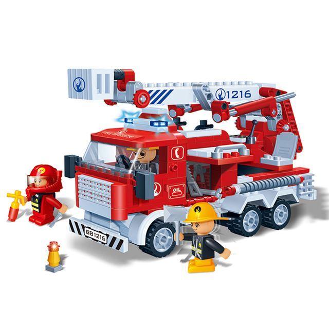 ~BanBao邦寶積木楚崴~消防系列 8313雲梯車^(與樂高Lego相容^)