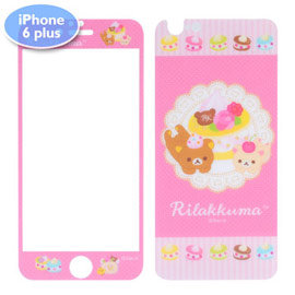 拉拉熊9H玻璃保護貼for iPhone 6 Plus 6s Plus ^(RM~PR08
