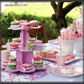 圓點下午茶三層點心盤 蛋糕架 杯子蛋糕 派對 【HH婦幼館】