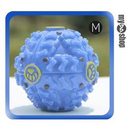 怪叫漏食球 零食 寵物玩具 狗玩具 貓玩具 發聲玩具 抗憂鬱 藍M^(V50~1314^)