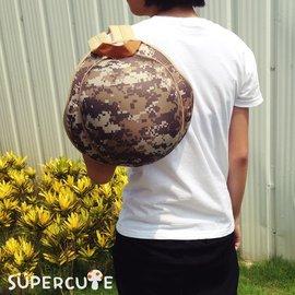 Supercute 頭盔迷彩雙肩背包 ~ 淺綠