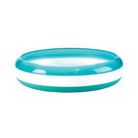 【紫貝殼】『DC30-5』美國 OXO Tot Training Plate 幼兒餵食防滑餐盤/學習餐盤/訓練碟 藍色【總代理公司貨】