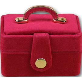 金元山珠寶銀樓~珠寶盒高貴化妝箱^(桃紅^)採用義大利絨皮製做 精美手提紙袋, 細膩,尊貴