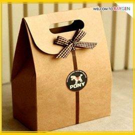 復古風迷你牛皮紙盒 禮品袋 西點 餅乾 包裝袋【HH婦幼館】