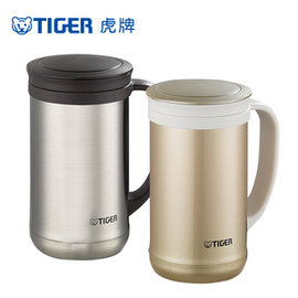 TIGER 虎牌 500cc 不鏽鋼保溫保冷辦公杯  MCM-T050 ◤含泡茶專用濾網◢