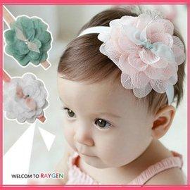 髮飾 嬰兒甜美蕾絲大花朵星星髮帶 頭飾【HH婦幼館】