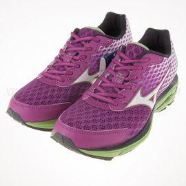 6折出清~美津濃Mizuno~WAVE RIDER 18 女 慢跑 路跑鞋 (J1GD150301)