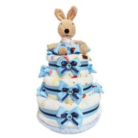 娃娃屋樂園~Le Sucre法國砂糖兔 三層 尿布蛋糕~藍色 每組2699元 生日蛋糕 彌