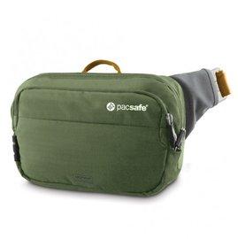 【澳洲 Pacsafe】Venturesafe-100 GII 新款防盜腰包.RFID讀取保護.防割.鋼質纜繩.MP3穿孔.臀包.可前背.手拿包/卡其綠 PA024OK