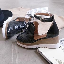 韓國妹~emb1241~韓國空運MONOBARBIE . 漂亮別緻5.8cm可愛牛津厚底鞋