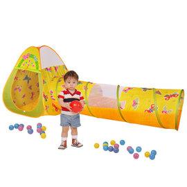 『SL09-21』【CHING-CHING親親】蝴蝶球屋(三角+隧道)+100球 (CBH-22)