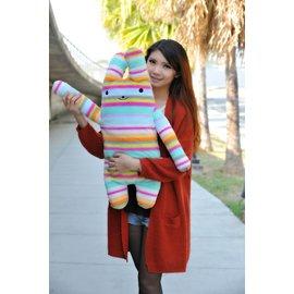 彩色長抱兔大娃娃^~綿綿兔^~fumo兔^~76公分^~男友抱枕女生最愛