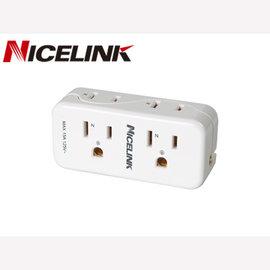 Nicelink 4座2 3孔 擴充座~ EC~M04A ^(1入^)