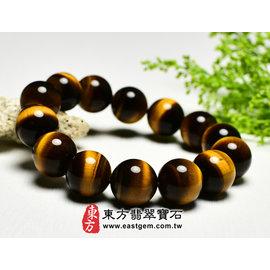 (已售出勿 ,可訂做)黃虎眼石天然玉石珠串手環 ^(黃色,珠徑約14mm^)OTY006~
