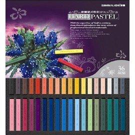 雄獅 HP~36 36色硬式粉彩條 ^(盒^)^~顏色濃厚附著性較高接近鉛筆類畫材的效果^