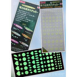 ◎百有釣具◎SAME 莎美 超高亮度夜光貼紙 《日本製》有剪裁(90*180mm、1張入)