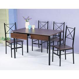 ~集樂雅~~DS1275~2DR~ 書桌椅組、餐桌椅組 ~ 附2抽^(1桌4椅^)