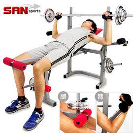 【SAN SPORTS】重力訓練舉重床C121-307 (重量訓練機.啞鈴椅.蝴蝶機.綜合運動健身器材.推薦)
