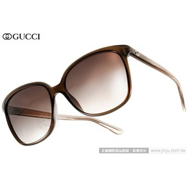 GUCCI 太陽眼鏡 GG3696S G7OJS (棕) 人氣熱銷迷人貓眼款 墨鏡 # 金橘眼鏡