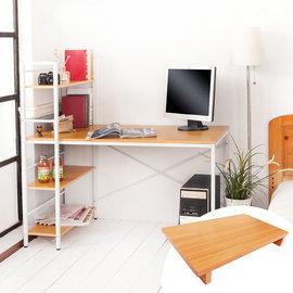 ~愛妮居家 館~TA006 暖色系加深60公分雙向層架工作桌 電腦桌 書桌 辦公桌 茶几桌