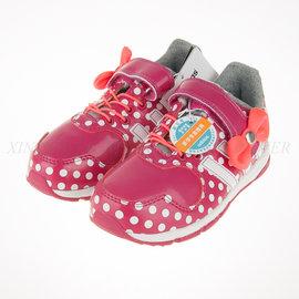 6折出清~Adidas~小童 迪士尼 米老鼠 米妮 黏扣休閒運動鞋 (B23887)
