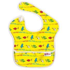 【紫貝殼】『SU06-8』2016年最新 美國Bumkins防水兒童圍兜(一般無袖款6個月~2歲適用)-小魚 BKS-F01【保證公司貨】