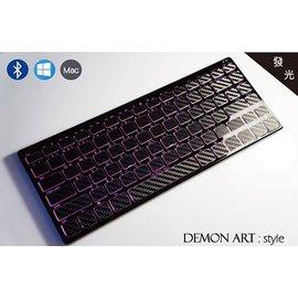 ~DEMON ART~:style 藍牙無線發光鍵盤 ^(狂野黑^) 客製化背光