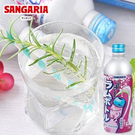 【SANGARIA】随手罐饮料碳酸汽水-葡萄风味 500ml    日本进口饮料