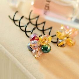 ~珼可 BECO BECO~髮飾 韓國彩色珠珠花束螺旋髮夾髮飾