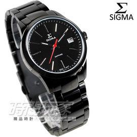 9814B~B 貨 SIGMA 簡約都會風格 IP黑電鍍 不�袗�帶 女錶