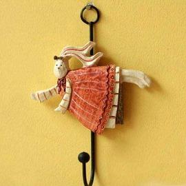 ~ 愛著衣飾 ~ 裝飾 可愛兔子天使家居掛勾掛壁飾^(單一個 ^)