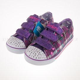 65折出清~SKECHERS (童) 女童系列 電燈鞋 帆布鞋 - 10507LPRMT