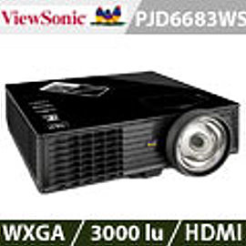 ViewSonic優派 PJD6683WS WXGA高效能短焦投影機 加贈雷射筆 投影機燈