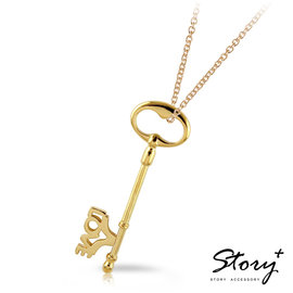 ~ SilverFly銀火蟲銀飾 ~STORY~幸福之鑰~字母款短鑰匙項鍊