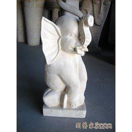 ~ 家景觀資材網~巴里島砂岩流水 ~大象出水雕刻~峇里島 動物雕塑水池