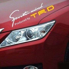 秒殺 ^!^!^! 大燈貼TRD燈眉貼TRD大燈貼 簽名貼sportmind車身貼  中號