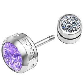 百變小魔女^~Brilliant Diamond Series 璀璨 單鑽 耳環 耳骨 耳