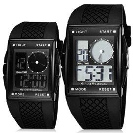 O.T.S奧迪斯 369 黑色誘惑 雙顯手錶 電子錶 腕錶 盡顯男性魅力^~2色