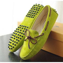 TODS 豆豆鞋 編織繩系帶情侶款豆豆鞋女 可愛 單鞋
