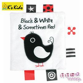 香港K s Kids奇智奇思 兒童書籍系列-黑白紅.6個月以上.學習布書.英文單字.感覺統