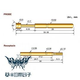 ◤大洋國際電子◢ 探針 P125-A  10PCS 包  0092
