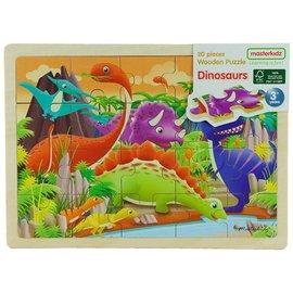 木製拼圖~恐龍^(Masterkidz 好童年代理^)~部分與整體、圖形與空間關係認知;視