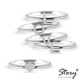 ~ SilverFly銀火蟲銀飾 ~STORY  客製化 ~五線譜單字純銀戒指