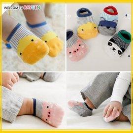 襪子 四款卡通動物條紋防滑寶寶地板襪 短襪【HH婦幼館】