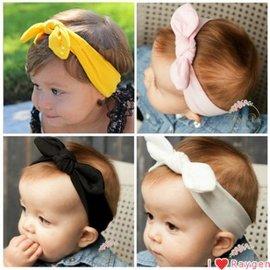 髮帶  親子款 寶寶兔耳朵打結髮帶嬰兒蝴蝶結頭飾幼兒頭帶發箍【HH婦幼館】