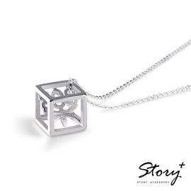 ~ SilverFly銀火蟲銀飾 ~STORY~方塊字~漢字訂製925純銀項鍊^(女款^)