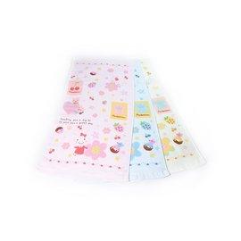 毛巾網  甜甜蜜蜜微笑兔~紗布童巾 六條入