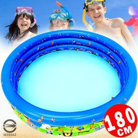 180CM動物充氣游泳池(排水孔)P008-180(180公分家庭戲水池兒童充氣泳池球屋球池遊戲池推薦哪裡買專賣店)