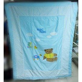 Nac Nac 麗嬰房 玩具熊涼被(藍)